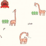 Child Wallpaper Roll Cute Giraffes