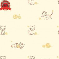 Cute Children Wallpaper Roll Playing Kittens