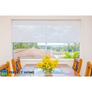 Screen shade / Sunscreen Roller Blinds (White)