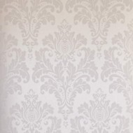 Elegant Pearl Damask Wallpaper Roll