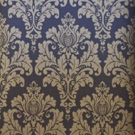 Elegant Gold and Black Damask Wallpaper Roll
