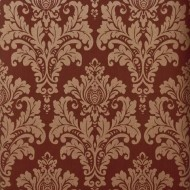 Rich Gold and Red Damask Wallpaper Roll